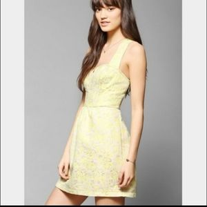 Beautiful yellow floral Kimchi Blue mini dress